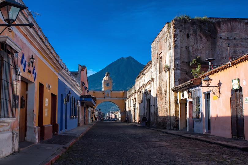 St Catarina arc and volcano Antigua Guatemala