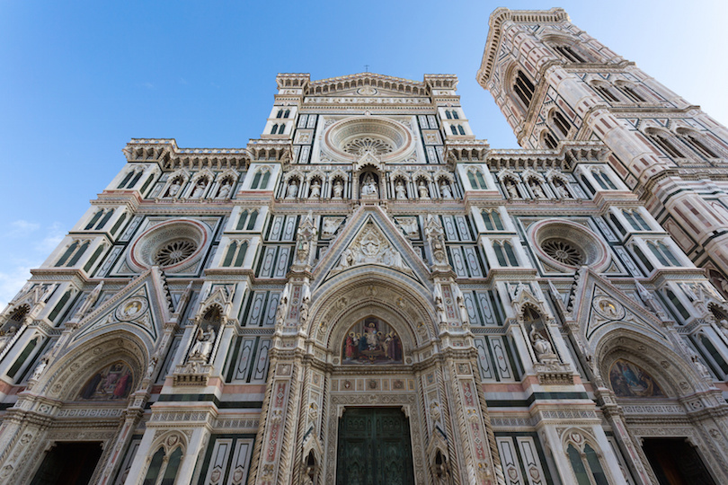 Florence Cathedral, details of the front side