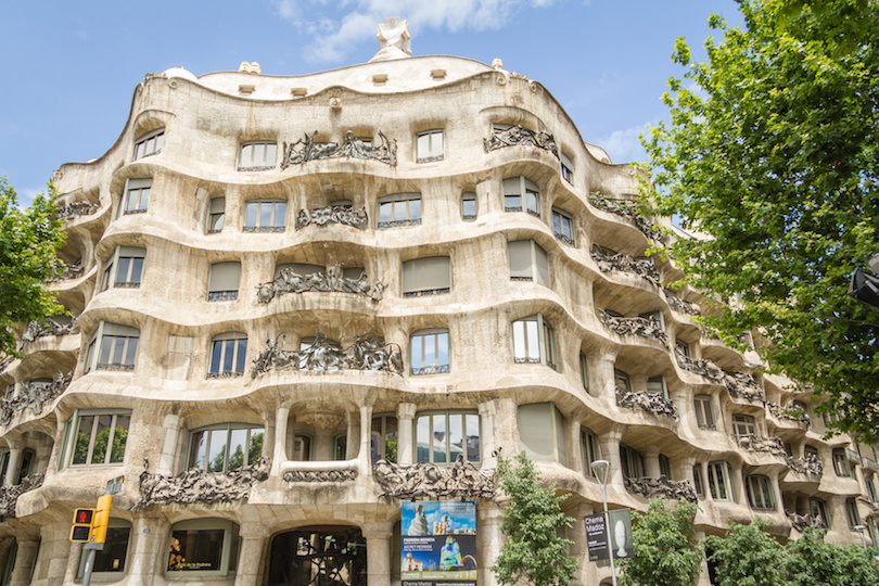 The Casa Mila, better known as La Pedrera, in Barcelona